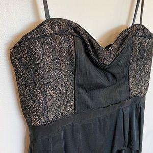 BCBG little black dress, strapless